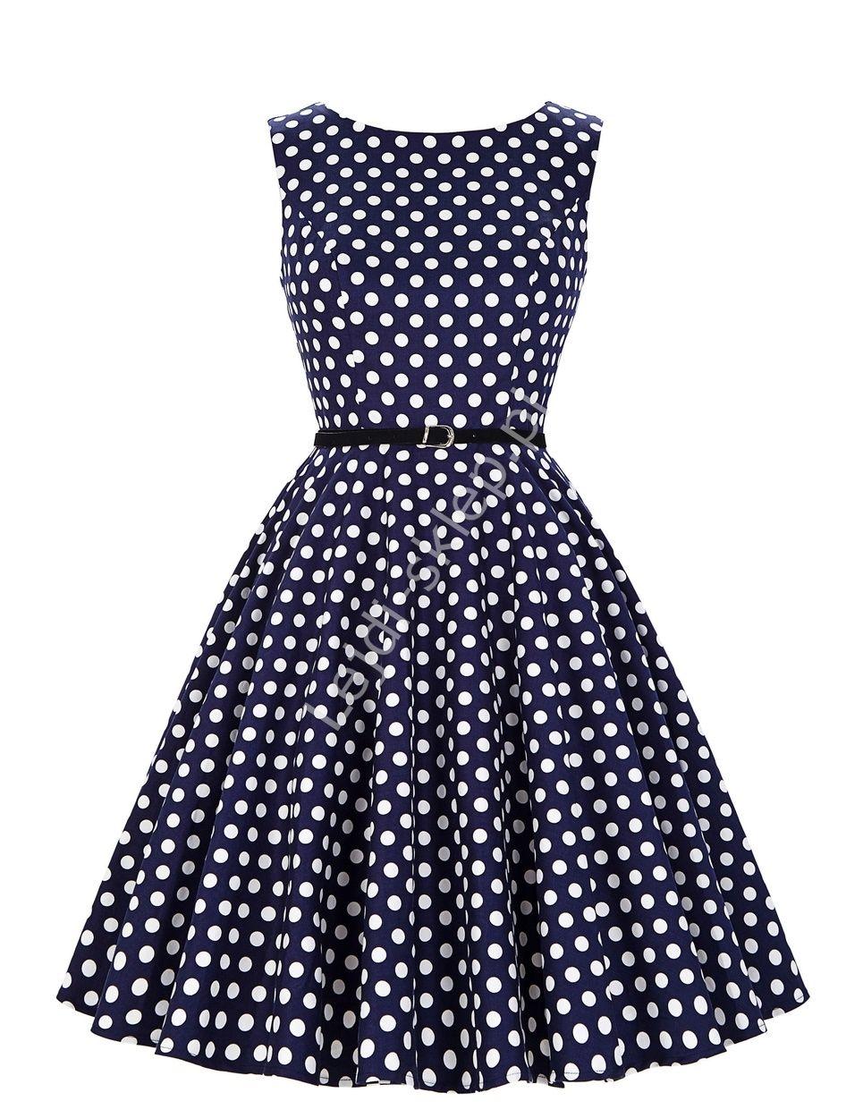 cff5eca4 Sukienka w kropki PLUS SIZE | odzeż dla puszystych , sukienki w ...