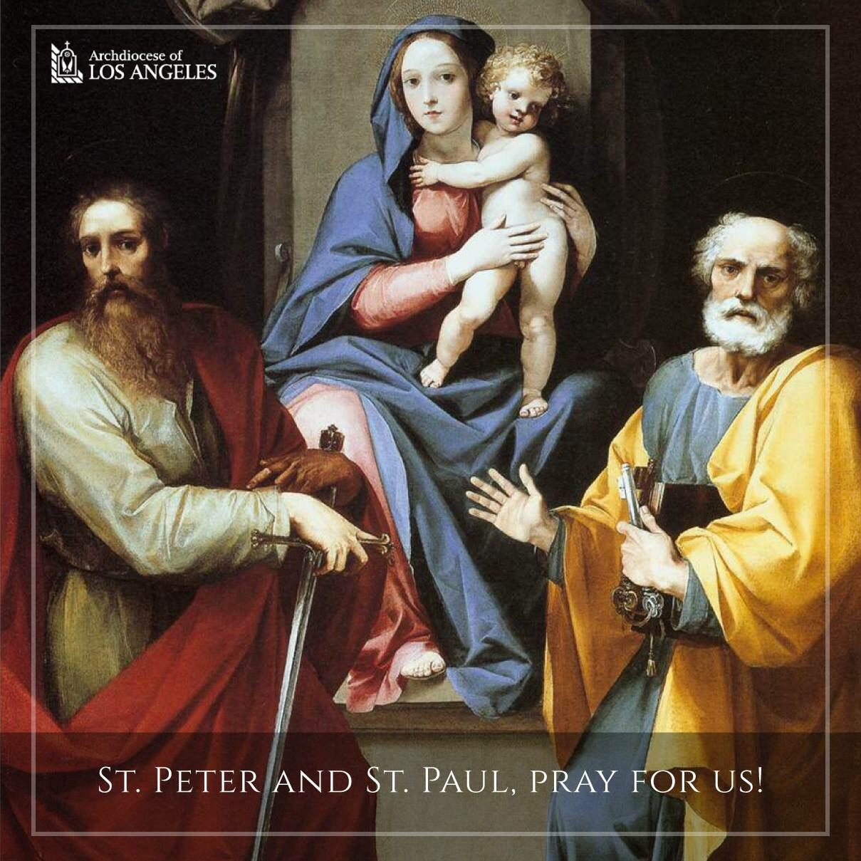 St. Peter and St. Paul, pray for us!