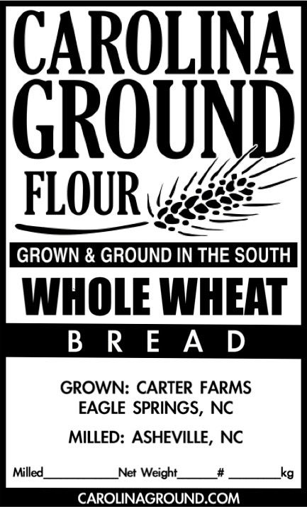 100% whole grain, made from hard, red, winter wheat. 12% protein. Our 2014  crop imparts a nuttiness we can only ascribe to the 5 weeks of drought this  grain endured. Wonderful strength and very appreciative of increased  hydration in the dough.   Grown in Eagle Springs, NC on certified organic acreage.