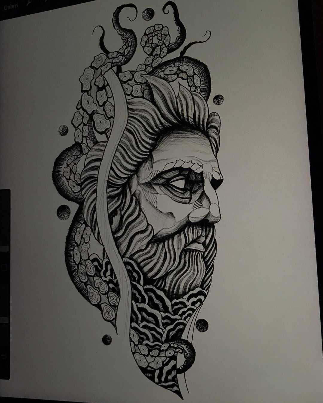 #draw #drawing #blackwork #blackworktattoo #tattoodesign #tattoodesigns #tattoodesigner #tattooart #tattoodo #tattooartist #tattooideas #tattooman #zeustattoo #octopustattoo #wavetattoo #tattoostudio