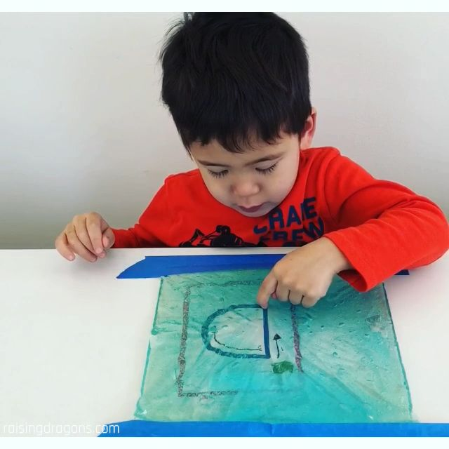 Sensory Bag Letter Writing * ages 3-6 ⋆ Raising Dragons