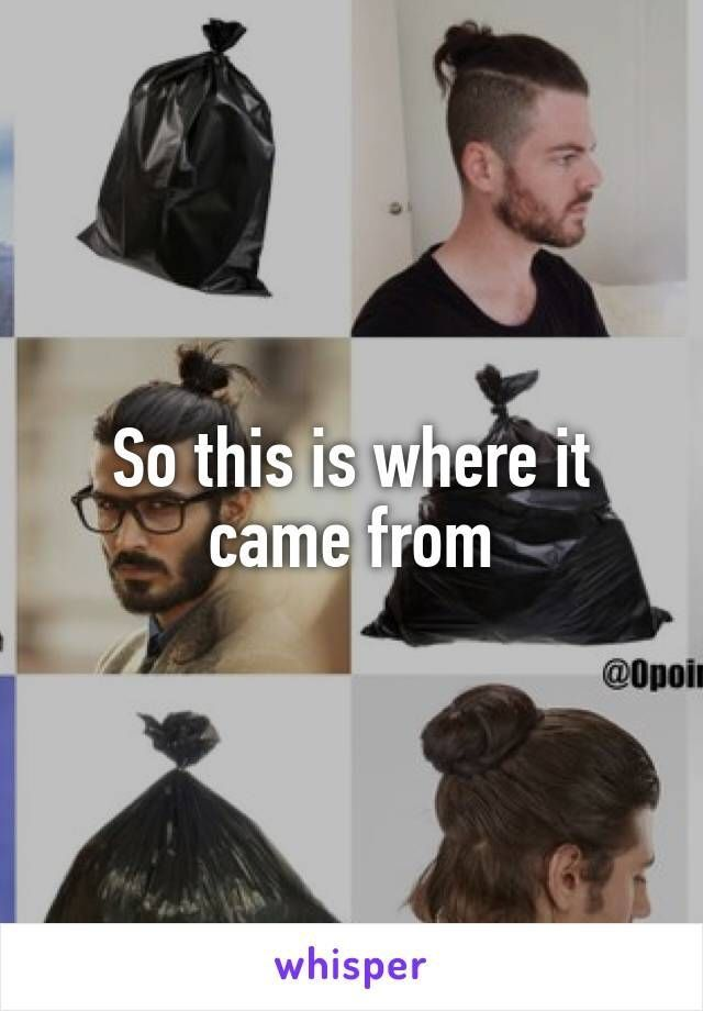 Seriously tho... Dont ever have a man bun. It is wrong ...