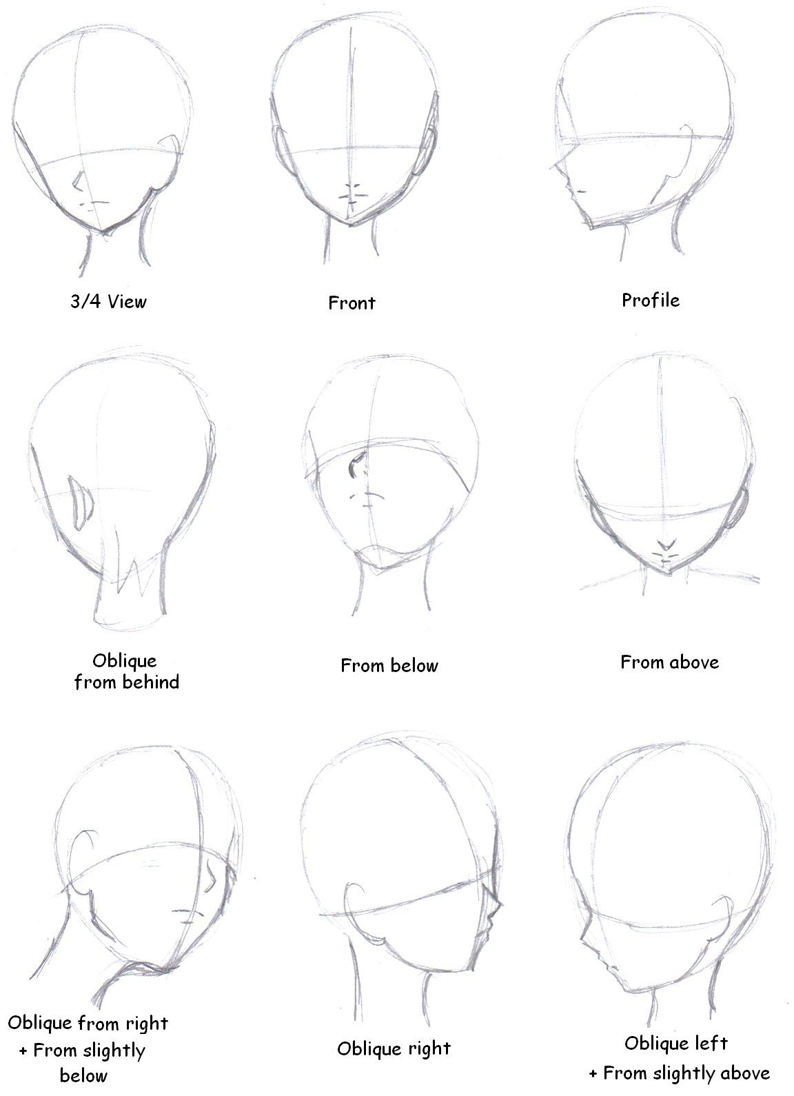 Reference Drawing Manga Head Face Blog Drawing Tutorial Drawing Tips Anime Drawings