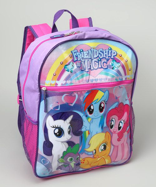 Finally, a bag sized perfectly for pretty princesses! This just-right mini backpack is perfect for toting to school, playdates or as a carry-on during the next family vacation. Two zipper compartments and two mesh side pockets provide plenty of space for all those girly necessities.