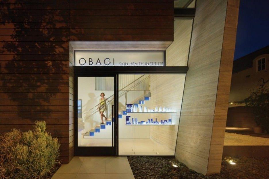 Clear glass window in the obagi skin health institute