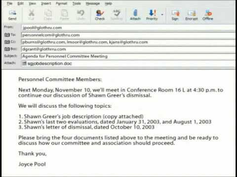 How To Write A Formal Business Email In Englishmp4 Youtube Bus