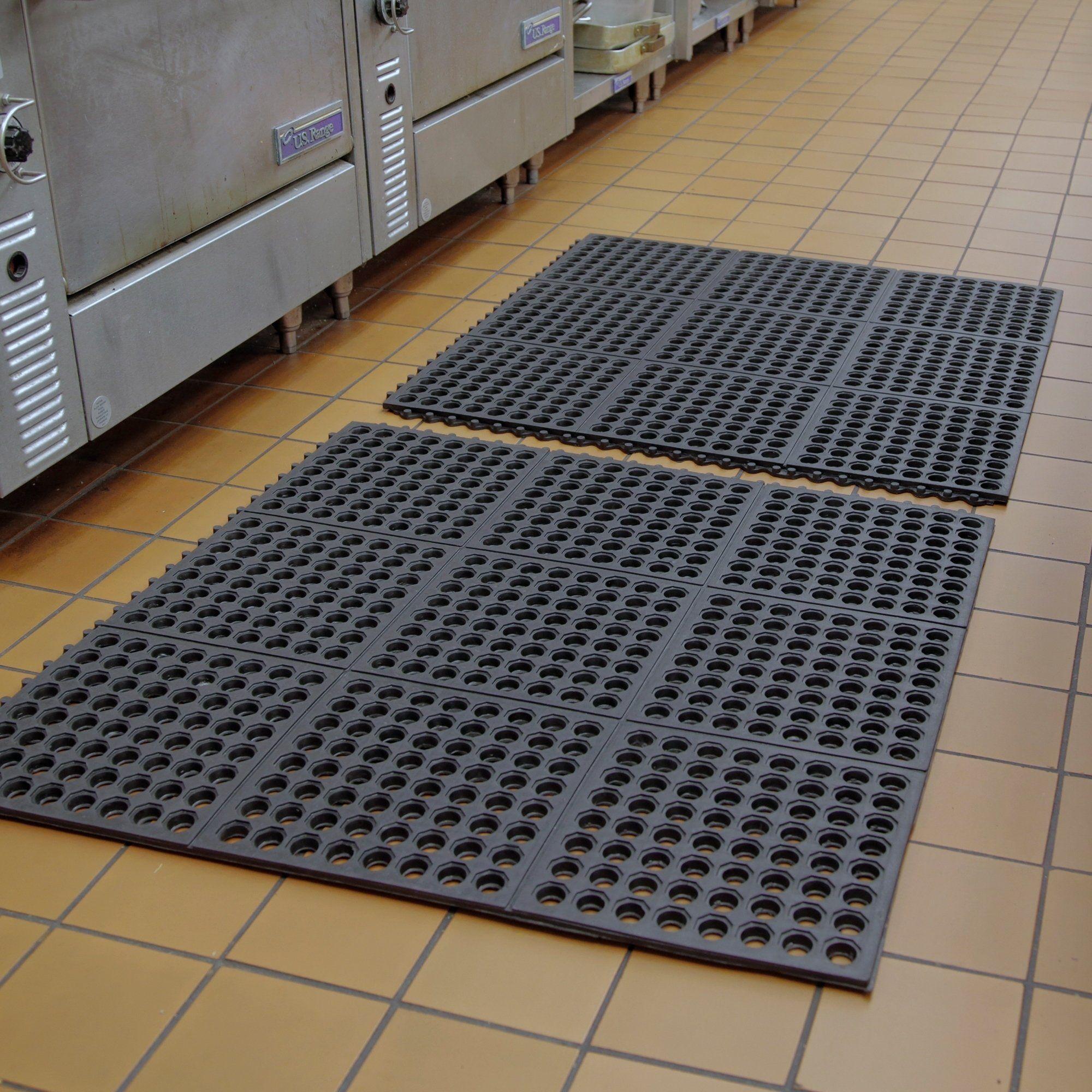 Mats Inc. Cushion Safe Kitchen Mat, Black (Black - 3\' x 3 ...