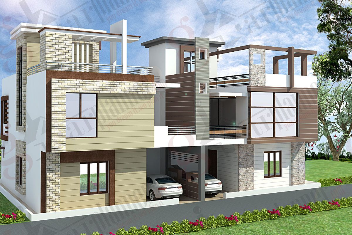 Good Home Design 2400 Sq Ft Part - 9: Box Type House Plan | My New City Challenge | Pinterest | House, House  Elevation And Modern House Design