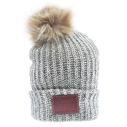 e78089bb8d1 Forest Speckled Pom Beanie (Natural Pom)