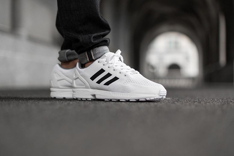 adidas zx flux triple white sale