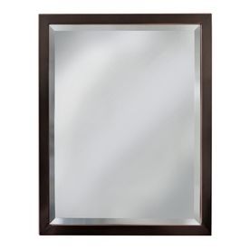 Photo Gallery On Website allen roth H x W Oil Rubbed Bronze Rectangular Bathroom Mirror