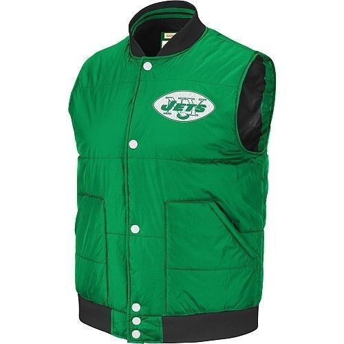 the latest ccb61 ae27a New York Jets NFL Mitchell & Ness vest jacket NWT Throwback ...