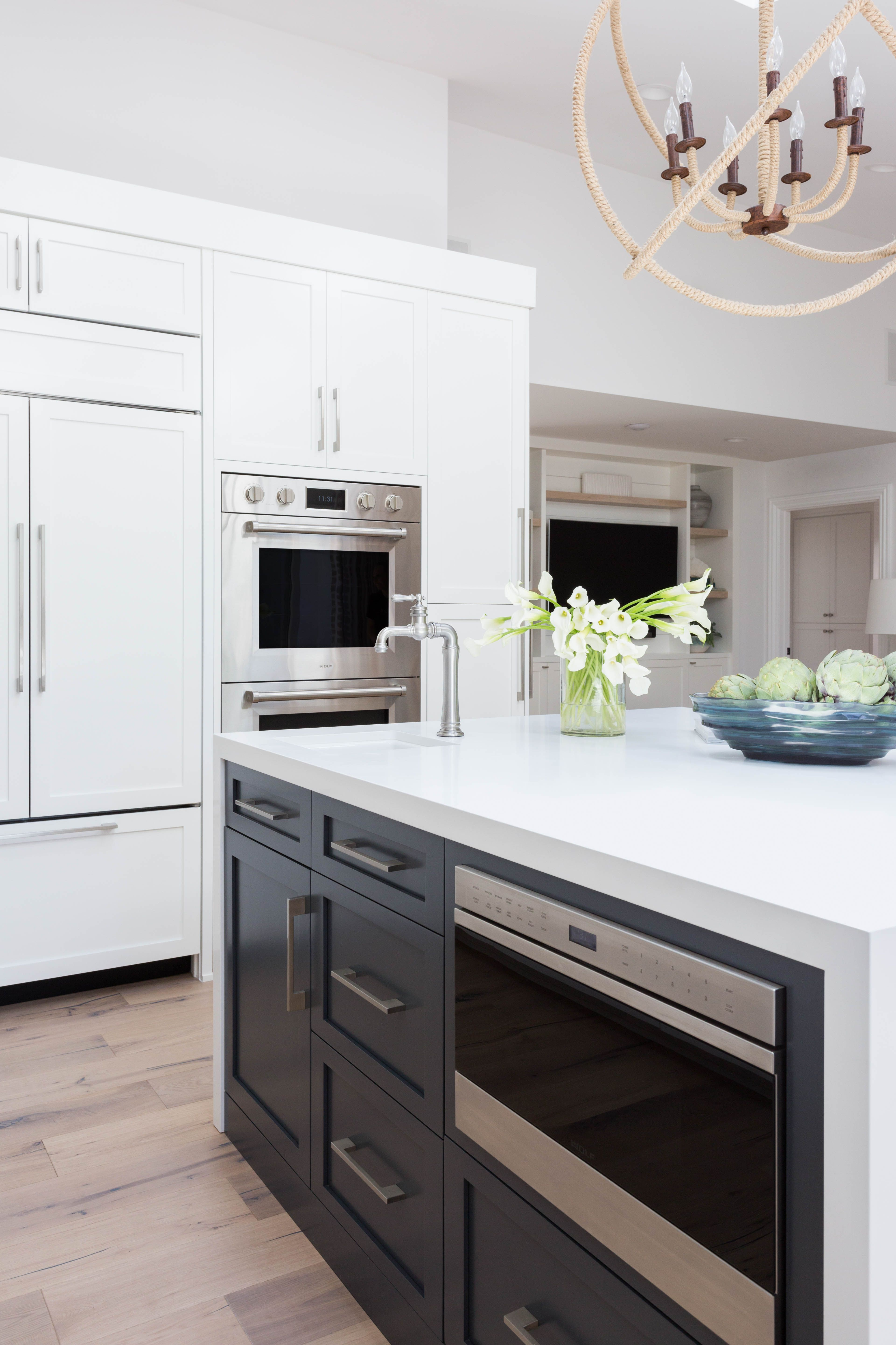 Project Dover Reveal Waterfall Countertop Kitchen Design