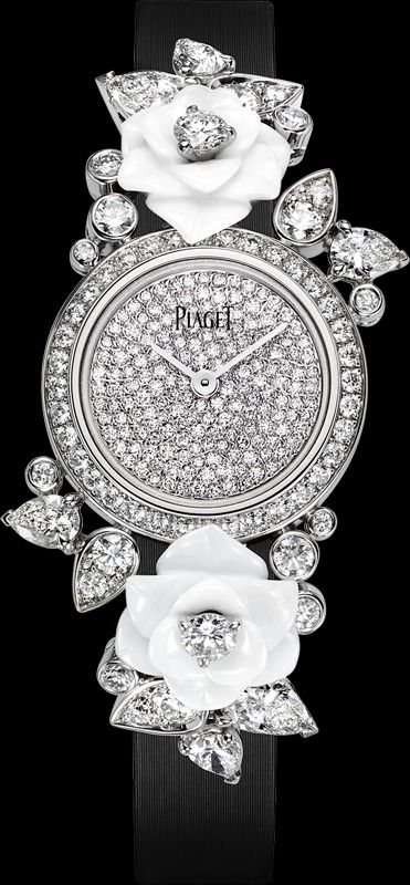 107c36d69006 PIAGET LIMELIGHT GARDEN PARTY WATCH -Case in 18K white Gold set with white  Chalcedony flowers and brilliant-cut Diamonds.