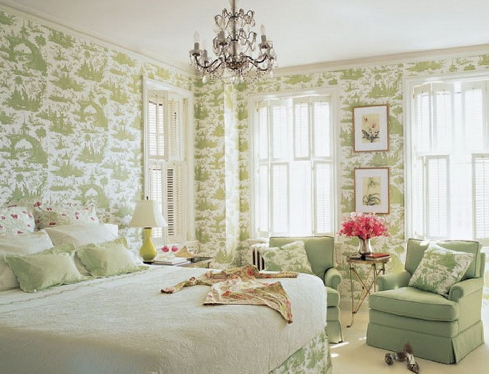 romantic green bedrooms. Green Wallpaper 10 Bedrooms In The Romantic Style Architecture