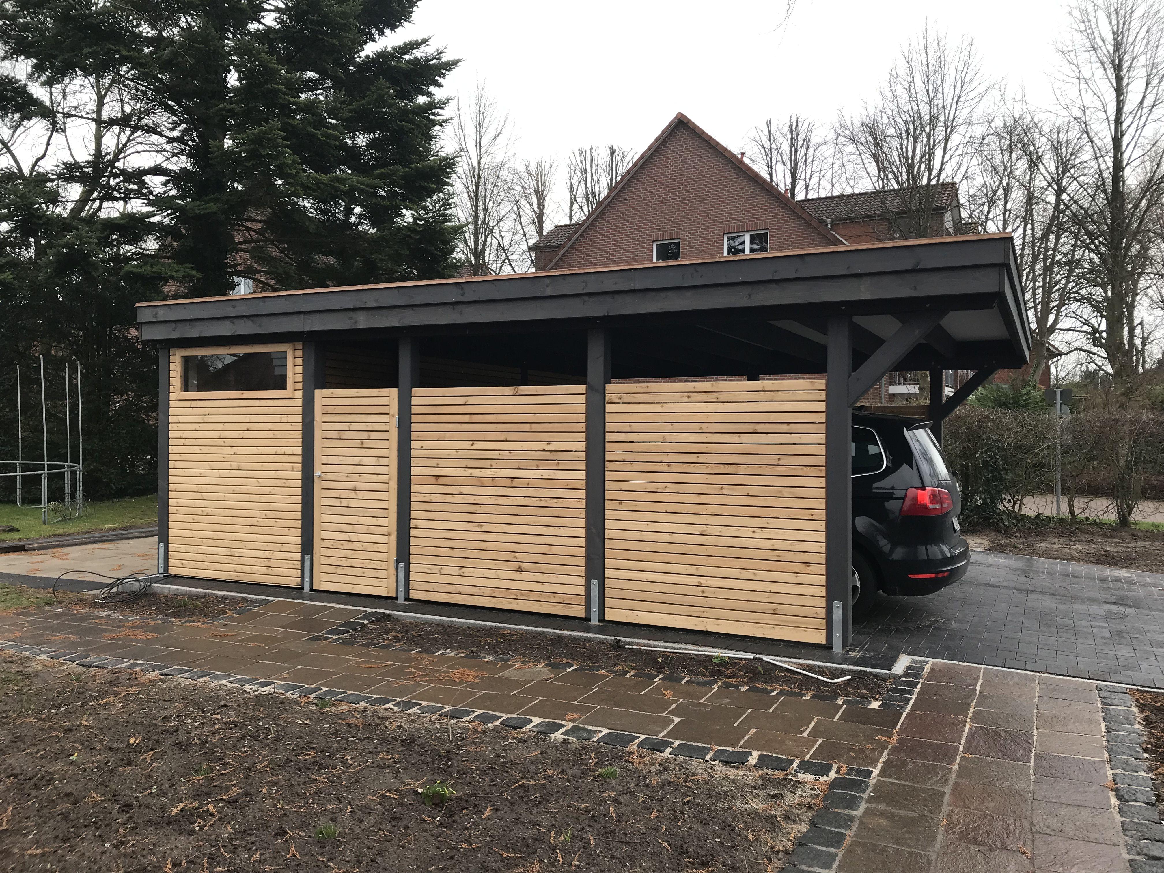 Holz Carport Mit Rhombus Verkleidung Vom Holzhof Friedrichsruh Gmbh Carport Holz Carport Doppelcarport