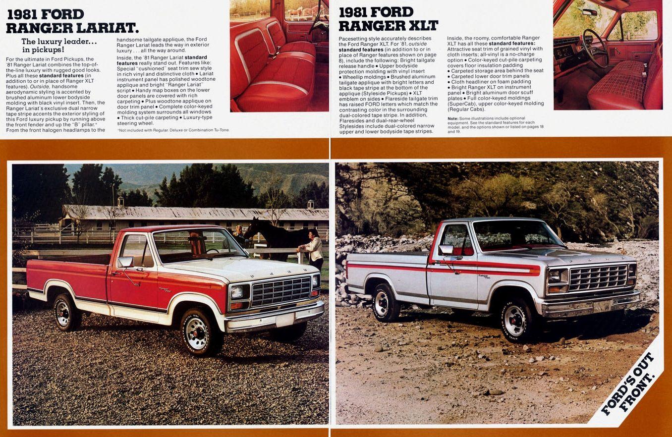1981 F150 Ranger Lariat And Ranger Xlt Jpg 1356 882 Ford Pickup Trucks Ford Ranger Ford Ranger Pickup