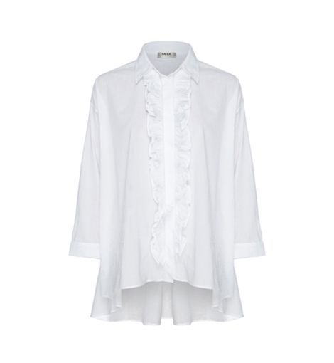 Mela Purdie Micro Poplin Ruffle Overshirt