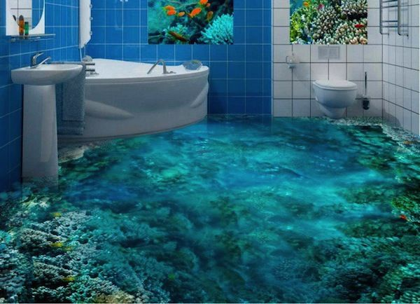 13 3D Bathroom Floor Designs That Will Mess With Your Mind | Floor Design, Bathroom Flooring, Amazing Bathrooms