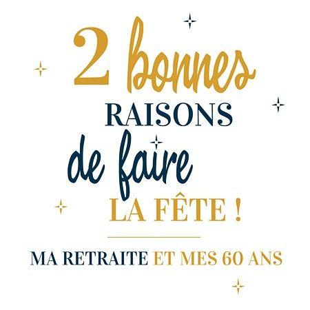 carte invitation retraite 60 ans 60ans #anniversaire #retraite #invitationanniversaire 2 en 1 (avec