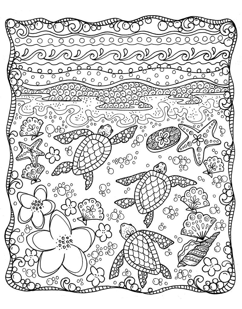 Zendoodle Coloring Tropical Paradise Coloring Pages (With ...