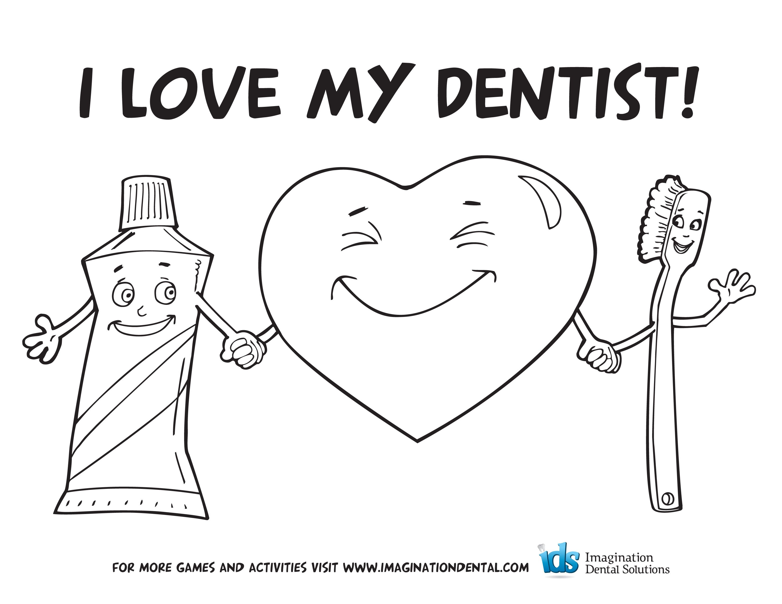 dental coloring pages - photo #34