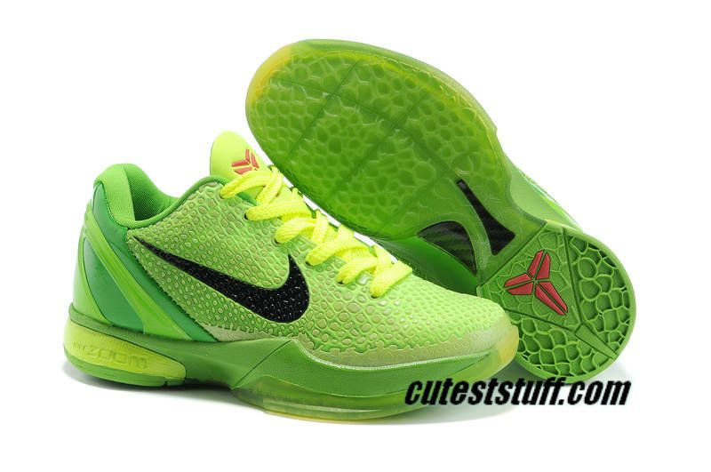 37e95afe2b7c ... White  Nike Zoom Kobe 6 Womens Grinch Christmas Volt Green DS 429659  701 56.99 ...