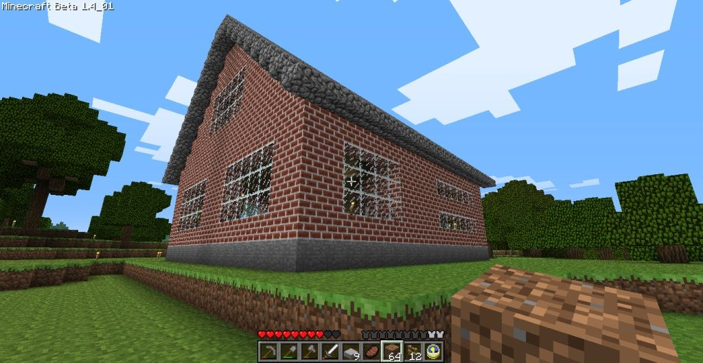 Cozy 2 Story Brick House | Minecraft House Design | ; Espacio