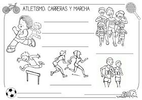 Nuevo Proyecto Los Deportes Atletismo Atletismo Juegos Olimpicos Para Ninos Atletismo Dibujo