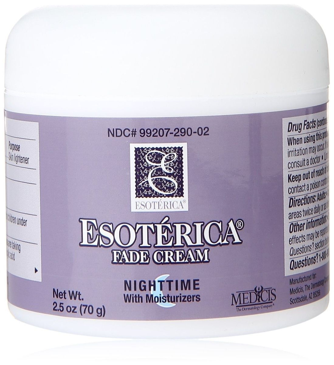 Esoterica Fade Cream Nighttime with Moisturizers http