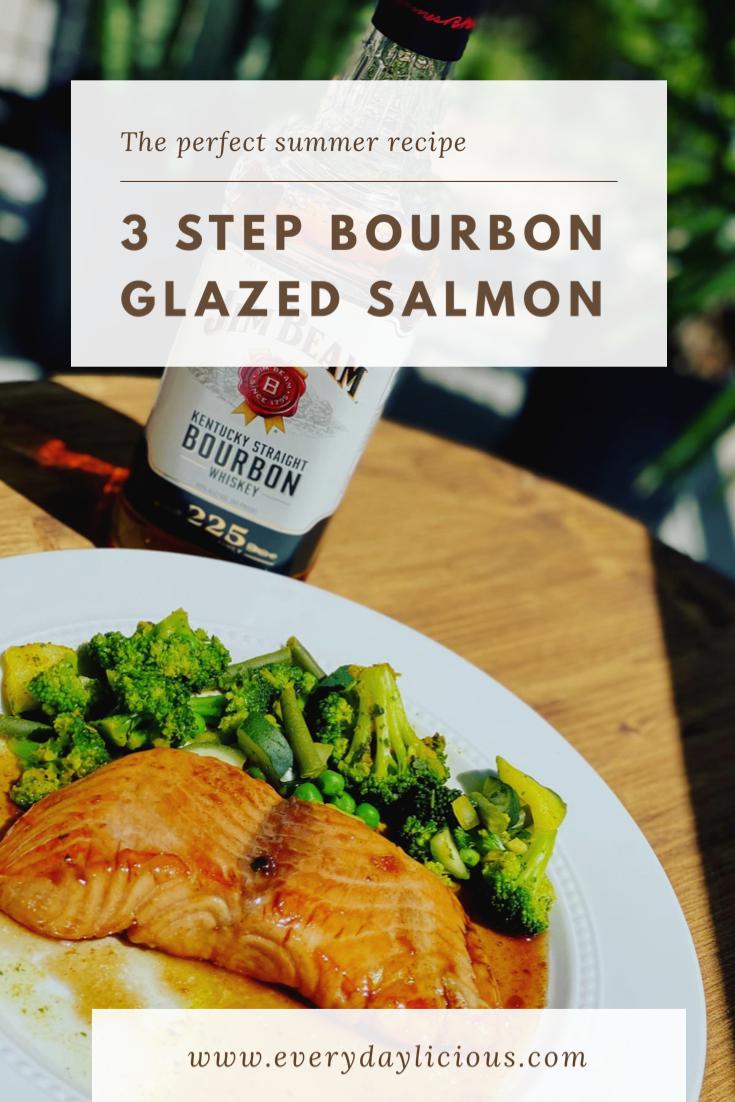 Easy 3 Step Bourbon Glazed Salmon Bourbon Glazed Salmon Glazed Salmon Salmon Glaze Recipes