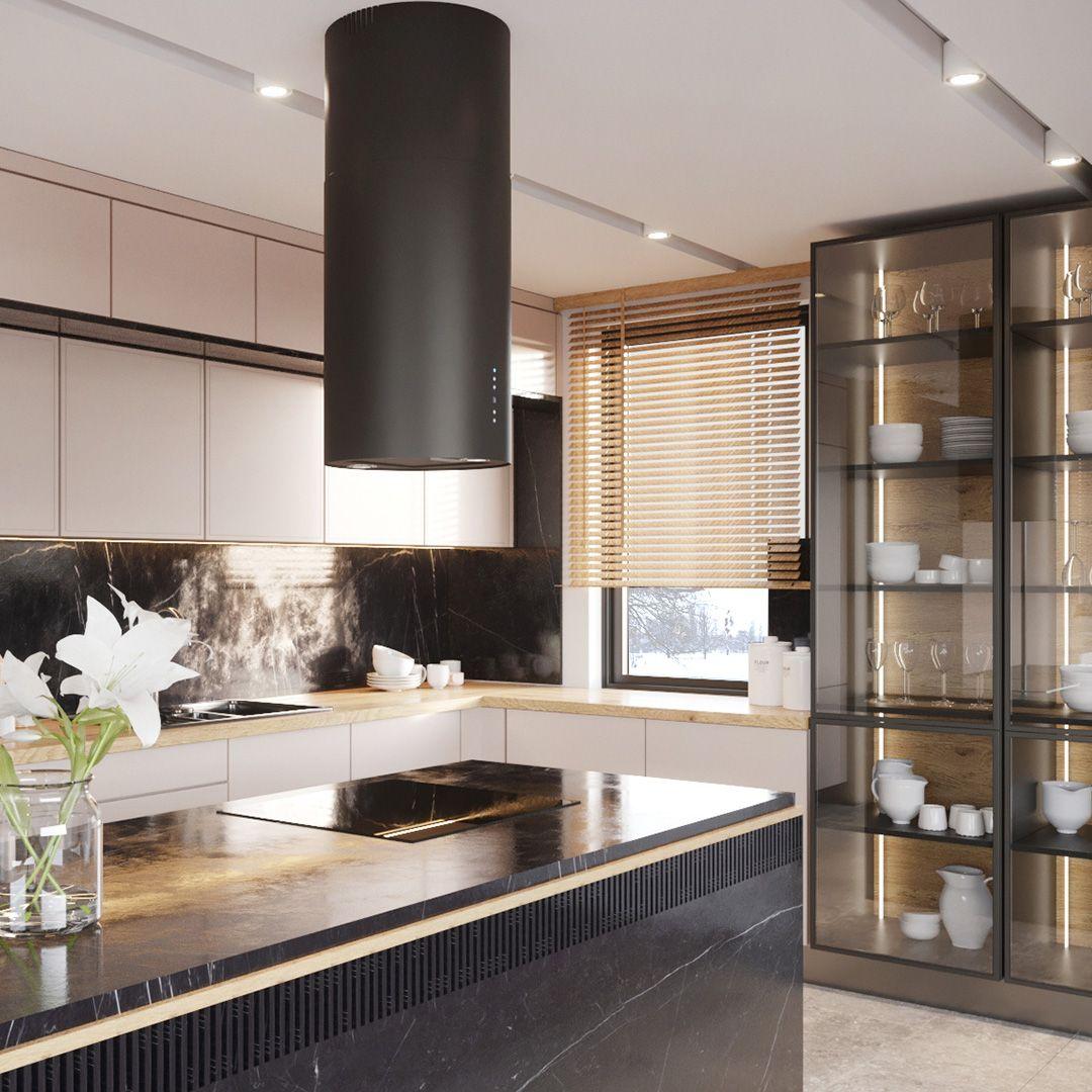Okap Wyspowy Cylindro Black Matt Nortberg Home Home Decor Decor