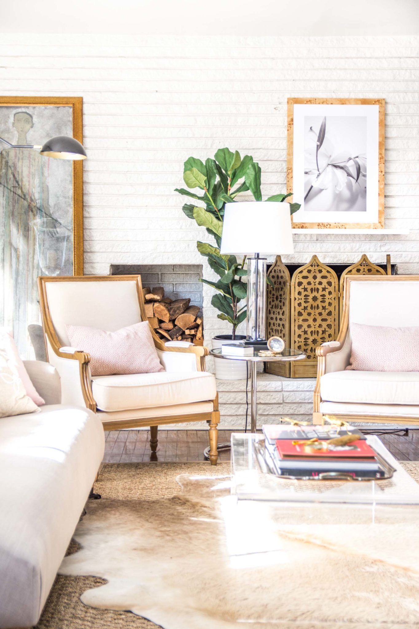 Embracing Blush Decor In The Living Room With Images