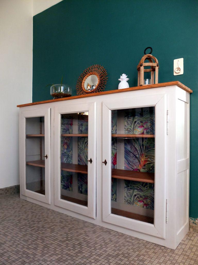 Haut De Buffet Vitré haut de buffet louis philippe vitré moderne bibliotheque