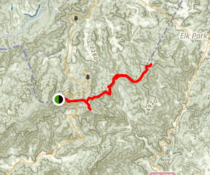 Carvers Gap to Little Hump Mountain and Bradley Gap Map