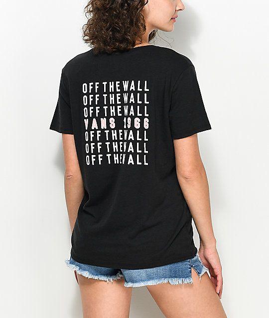 036e28615cb3 Vans Cells Bells Black Boyfriend T-Shirt