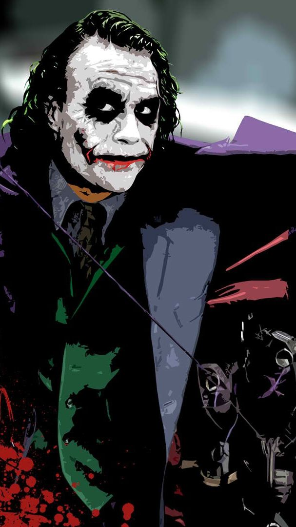 Heath Ledger Joker Wallpaper Iphone Wallpaper Iphone