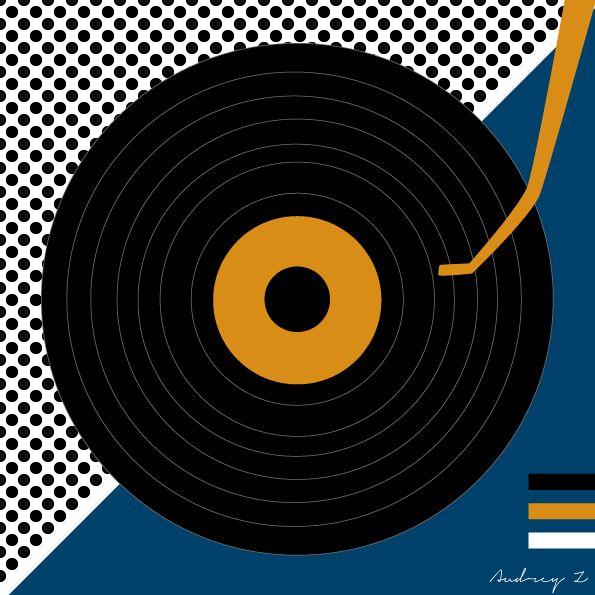 Record Player Graphic Design Vinyl Love Pinterest