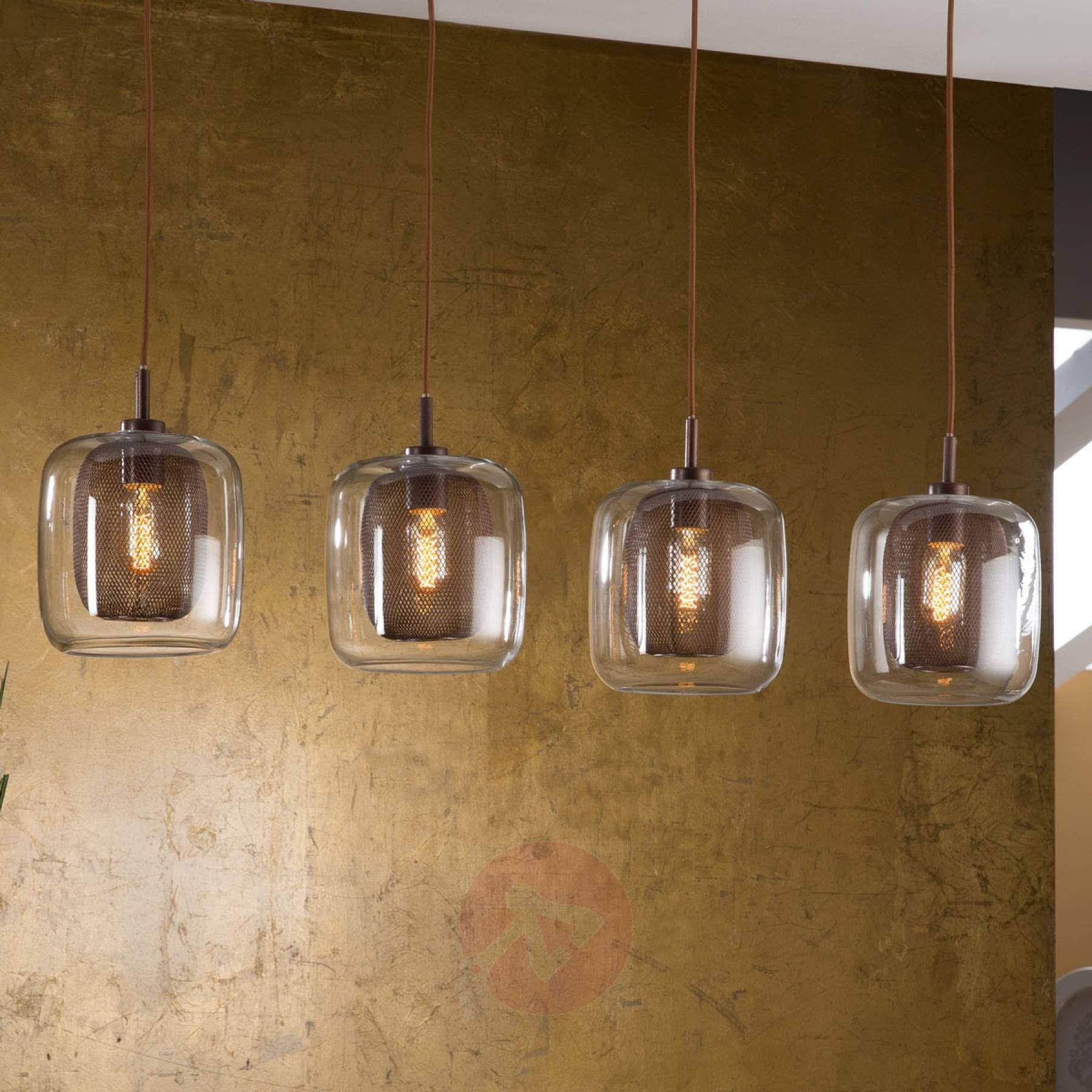 Hanglamp Fox Met Dubbele Schermen And 4 Lichtbronnen 8582297 01 Hanglamp Lampen24 Hangende Lichten