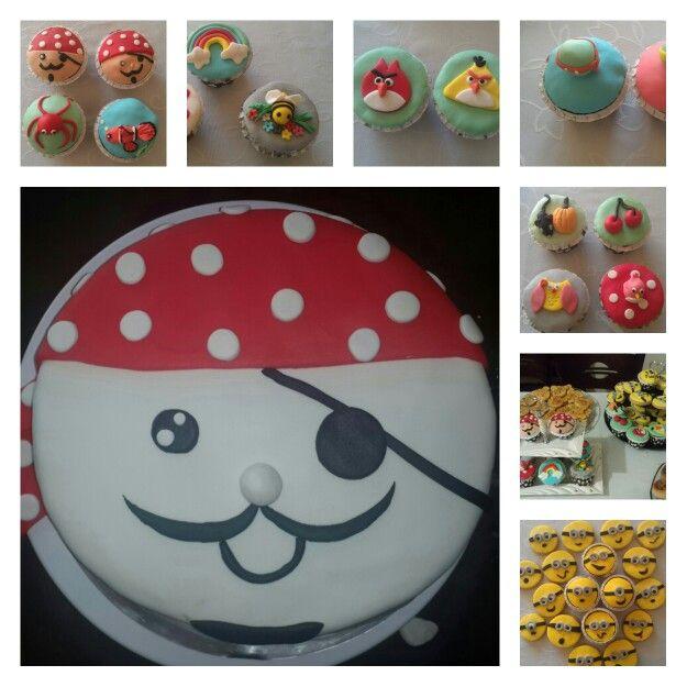 Cake Cupcakes Cilgin Hirsiz Cupcake Pasta Hane Tableware Plates Pasta