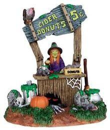 33002 - Creepy Cider Stand - Lemax Spooky Town Halloween Village Accessories #halloweenvillage