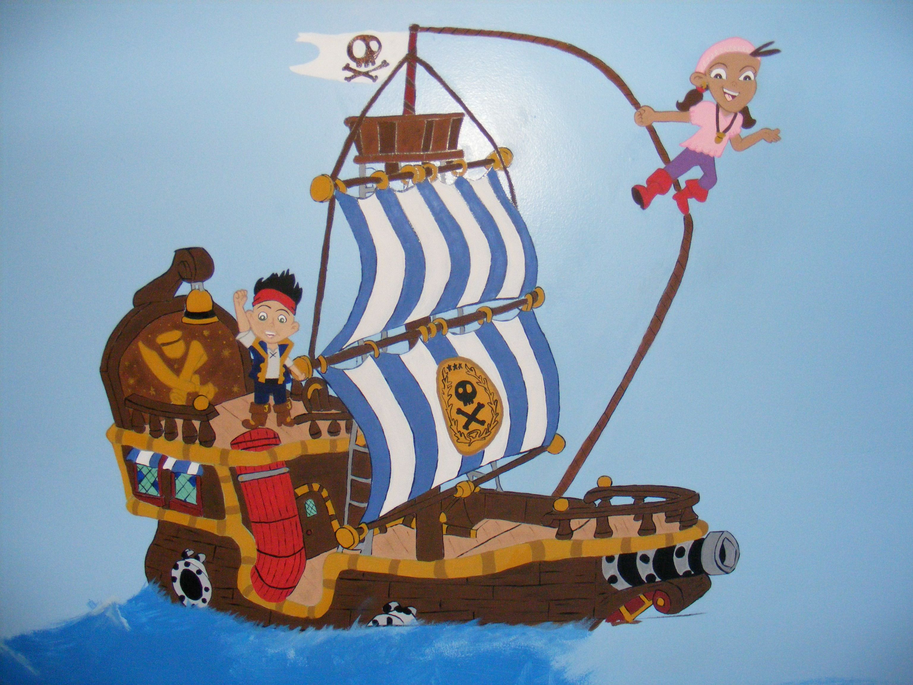 Pirate Bedroom Accessories Jake The Neverland Pirates Ship With Jake On Deck And Izzy On