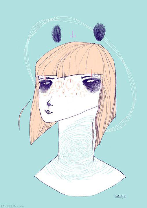 Panda girl - Stephane Tartelin