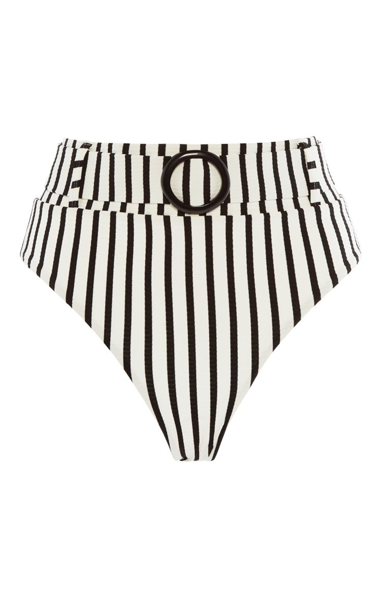 9c14bce869209 Primark - Striped High Waist Bikini Bottoms | Swimwear Etc. in 2019 ...