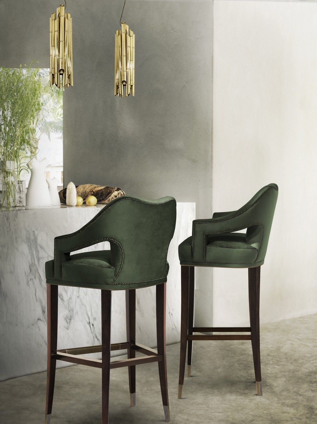 Choose the best green bar stools to liven up your home this winter www