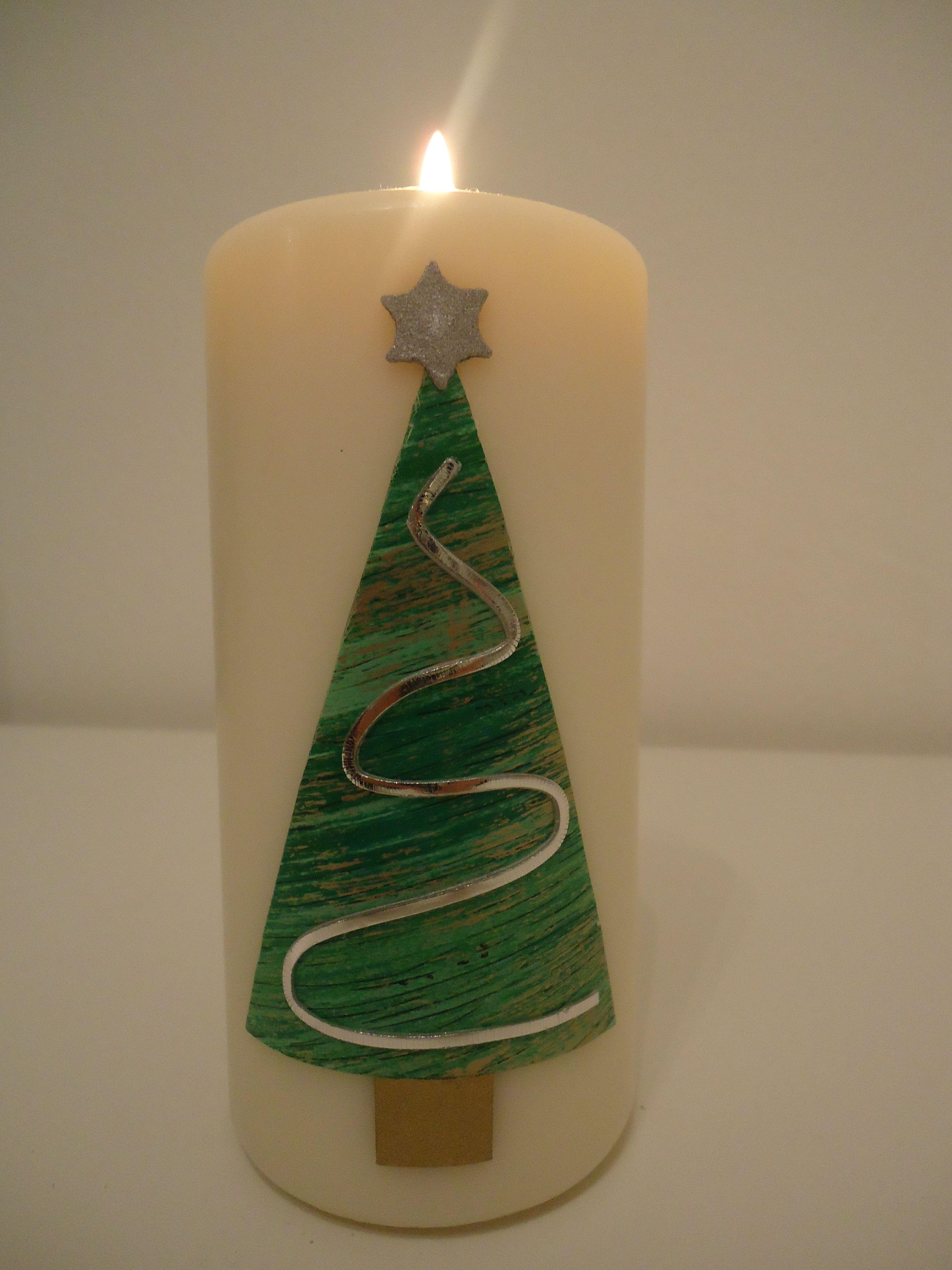 Candela Candle Kerzen Wachsplatten Natale Christmas Noel