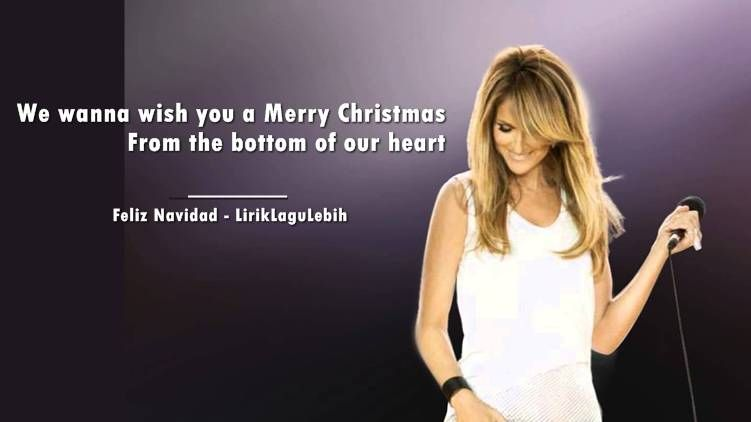 Lirik Lagu Feliz Navidad Celine Dion Lirik Lagu Lagu Lirik