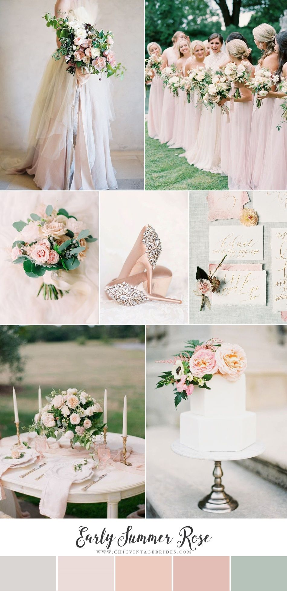 Wedding ideas blush pink  Early Summer Rose  Romantic Wedding Inspiration in the Softest