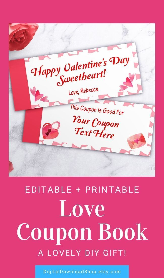 love coupons printable  editable coupon book template