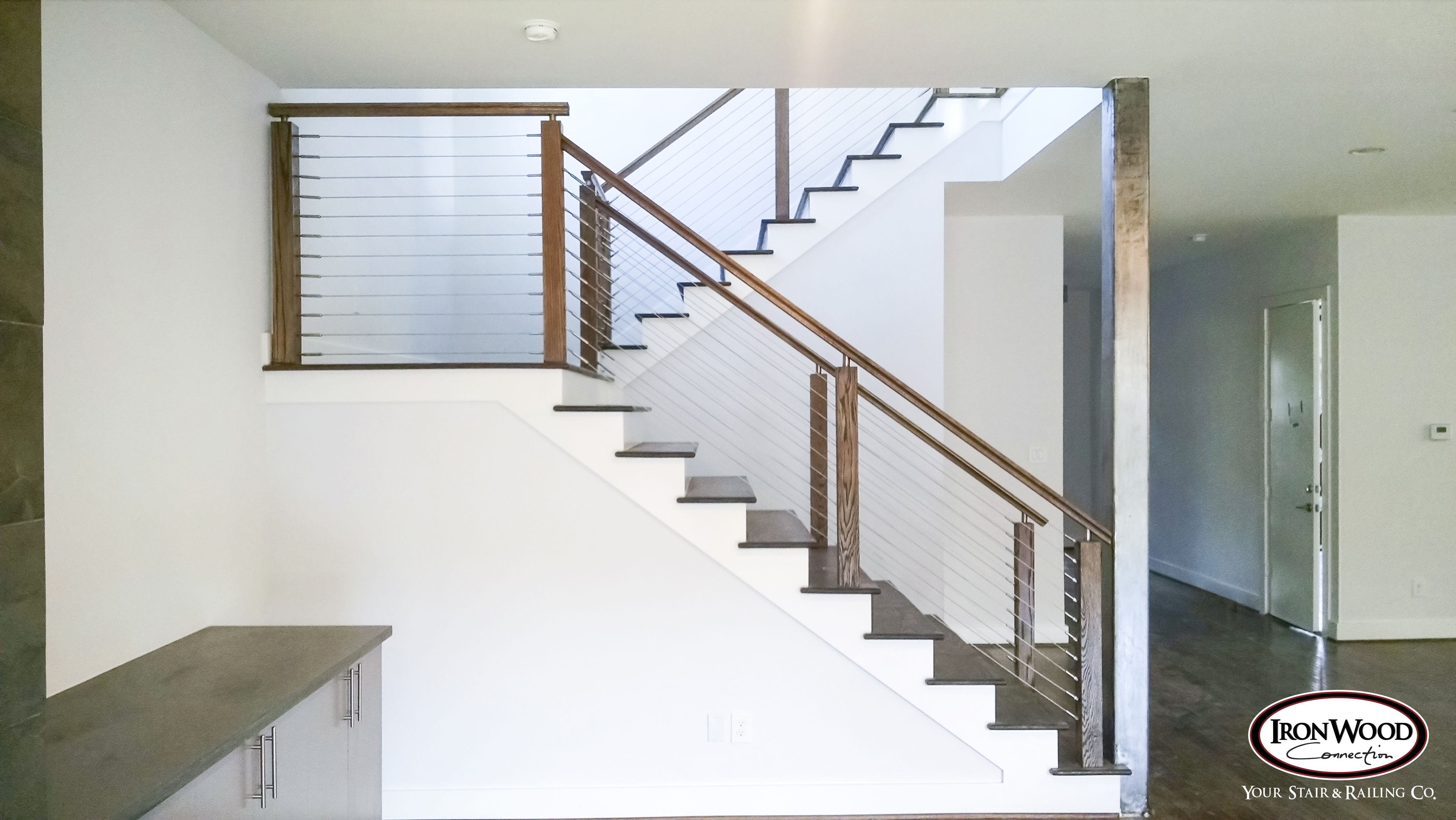 Glass Cable Railing Idea Photo Gallery Ironwood Connection Stair Railing Company Cable Stair Railing Stair Railing Kits Stair Railing